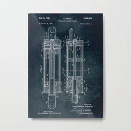1962 - Hidraulic cylinder device Metal Print