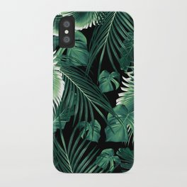 Tropical Jungle Leaves Dream #6 #tropical #decor #art #society6 iPhone Case