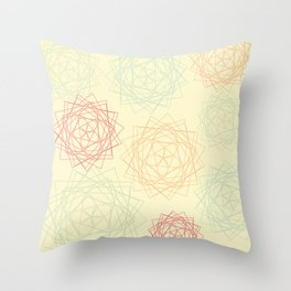 Origami Blooms Throw Pillow