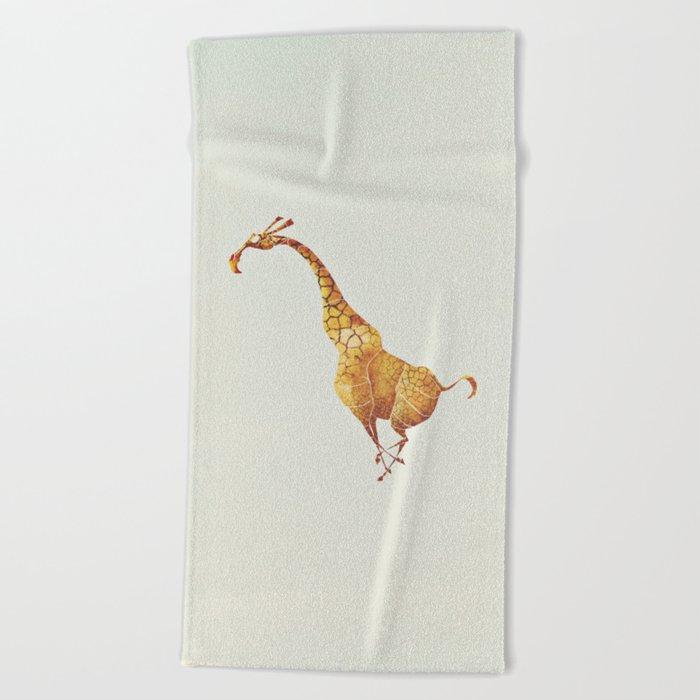 Giraffe Beach Towel