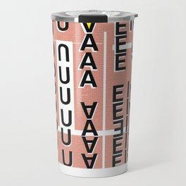 Vowels pink Travel Mug