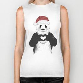 Santa panda Biker Tank