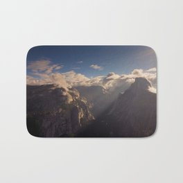 Sunrays Over Half Dome Bath Mat