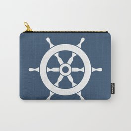 Navy Nautical Ship Wheel Carry-All Pouch