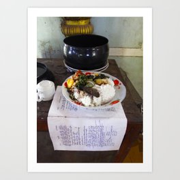 Buddist Food Offering Art Print