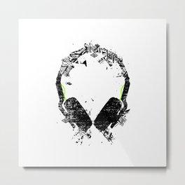 Art Headphones Metal Print