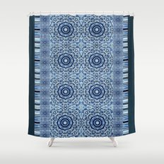 Denim Mandalas Shower Curtain