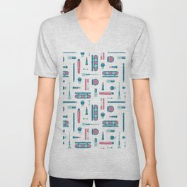Cosmetic Items Repeating Pattern Unisex V-Neck