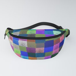 Neon Pixelated Patchwork Fanny Pack