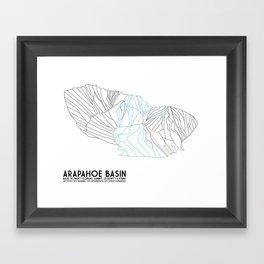 Arapahoe Basin, CO - Minimalist Trail Map Framed Art Print