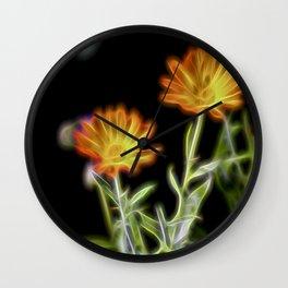 Garden Marigolds Wall Clock