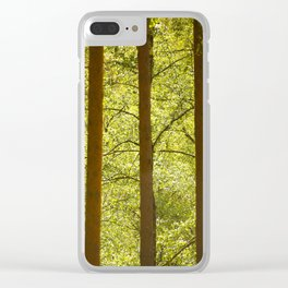 Three Tree Trunks #decor #society6 Clear iPhone Case