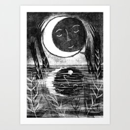 Cloaked Moon Art Print