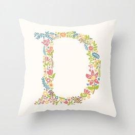 Alphabet D Throw Pillow