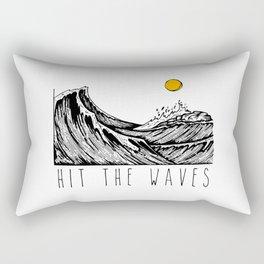 Hit The Waves Rectangular Pillow