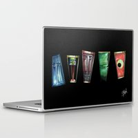 monsters inc Laptop & iPad Skins featuring Monsters by Pao Designs