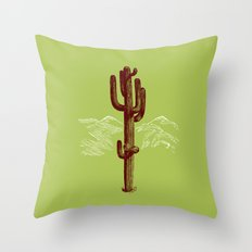 cactus y nieve Throw Pillow