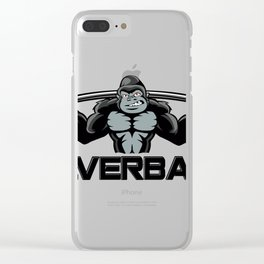 Strong monkey cartoon Clear iPhone Case