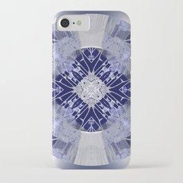 Microchip Mandala in Purple iPhone Case