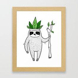 King of Sloth Framed Art Print