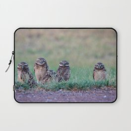 Baby Burrowing Owls Laptop Sleeve