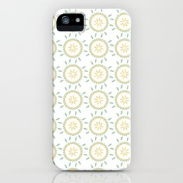 Spring Flower Motif Daisy Style Seamless Pattern iPhone Case
