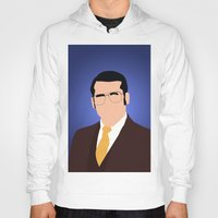 anchorman Hoodies featuring Brick Tamland - Anchorman by Tom Storrer