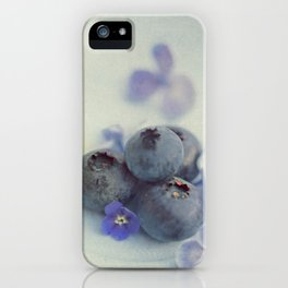 Blueberry Smile iPhone Case