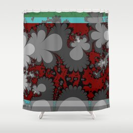 comic flowers growing up up up Shower Curtain