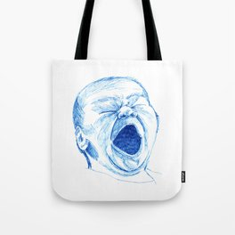 Baby Screaming or Yawning Tote Bag