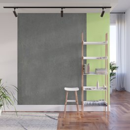 Chartreuse Concrete Wall Mural
