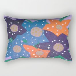 Fiesta Flowers Modern Still Life Rectangular Pillow