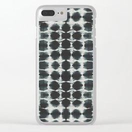 Black Shibori Clear iPhone Case