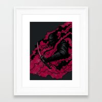 ninja Framed Art Prints featuring Ninja by pigboom el crapo