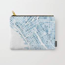 Map Seattle Washington Blueprint watercolor map Carry-All Pouch