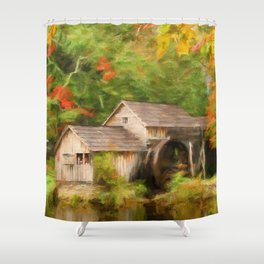 Mabry Mill Autumn Shower Curtain