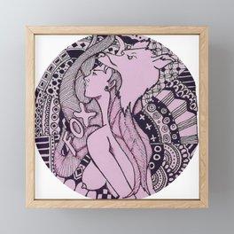 Sexy Nude - Fox Erotic Illustration Framed Mini Art Print