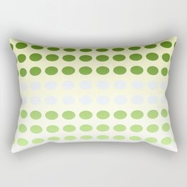 Dots in a Row in Olive and Cream Rectangular Pillow