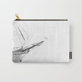 Black and White Sailboat Carry-All Pouch
