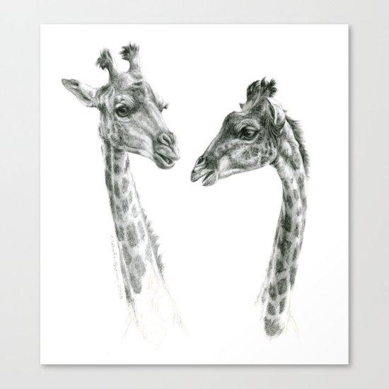 Giraffes love G055bis Canvas Print