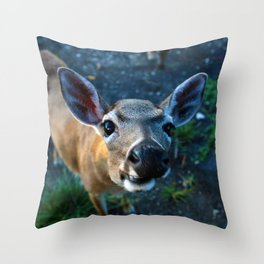 Key Deer Throw Pillow