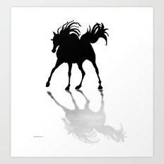 Shadow Dancer painting Art Print