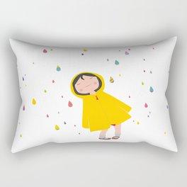 girl in the rain Rectangular Pillow