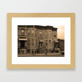 Brooklyn House 2001 Sepia #3 Framed Art Print