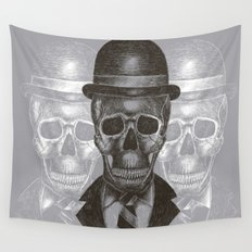 Worked To Death (Grey version) Wall Tapestry