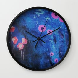 Downright Blue. From my Original Painting by Jodilynpaintings. Blue, Abstract Wall Clock