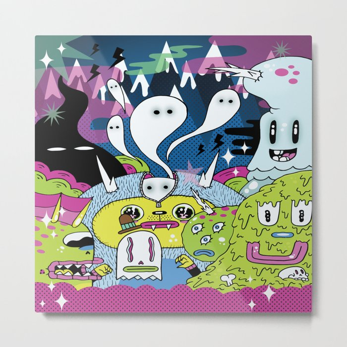 Spooky Spirits  Metal Print
