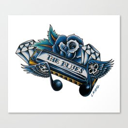 Blues Harp  Canvas Print