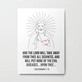 The Lord Will Take Away Metal Print