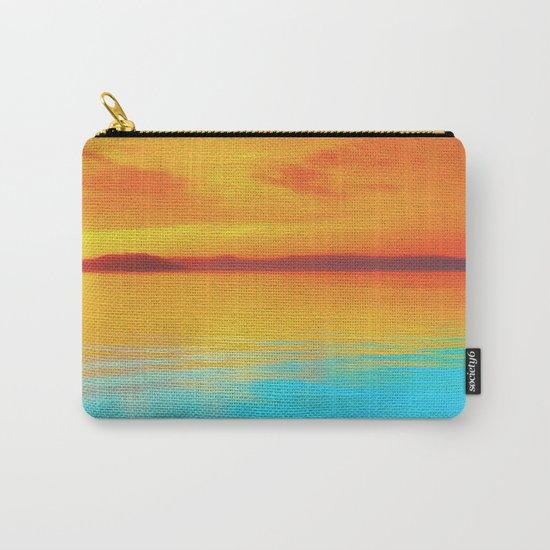 sunset beachh Carry-All Pouch